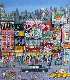To Broadway... 3-D 1980 Limited Edition Print - Charles Fazzino
