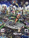 Patriots Super Bowl XXXVIII 2004 Limited Edition Print - Charles Fazzino