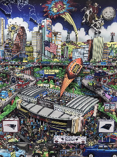 Patriots Super Bowl XXXVIII 2004 Limited Edition Print - Charles Fazzino
