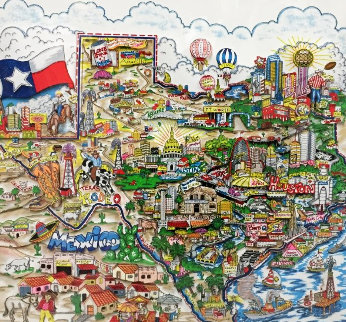 A Taste of Texas 3-D 2005 Limited Edition Print by Charles Fazzino