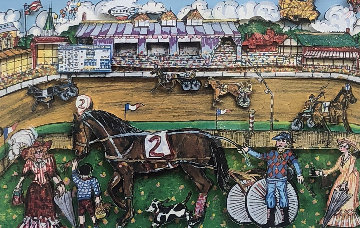 Life Is A Horse Race 3-D 1980   Limited Edition Print by Charles Fazzino