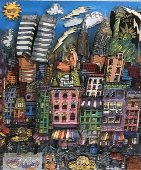 New York's Crackin Up 3-D 1992 Limited Edition Print by Charles Fazzino