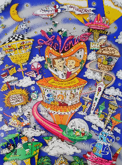 Jetsons Take Las Venus 3-D 1996 Limited Edition Print by Charles Fazzino