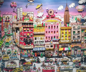 Bargain on Orchard Street 3-D 1992   Limited Edition Print by Charles Fazzino