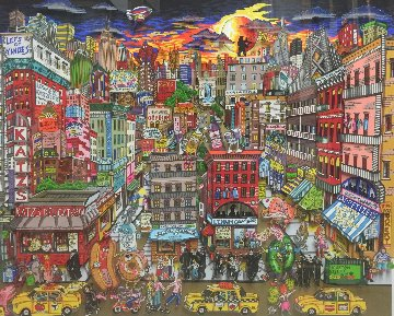 Fahklumpt And Famished In This Meshuganeh City, NYC  3-D 2015  Limited Edition Print - Charles Fazzino