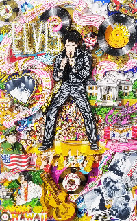 Remembering Elvis 3-D 2002  Limited Edition Print by Charles Fazzino