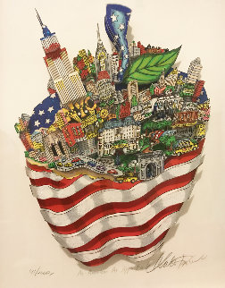 As American As Apple Pie! 3-D  2002  Limited Edition Print by Charles Fazzino