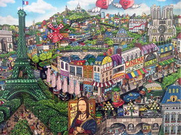 Come Visit Me in Paris 3-D 2012 Limited Edition Print by Charles Fazzino