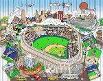 An All-Star Tribute to Yankee Stadium 2008 Limited Edition Print - Charles Fazzino