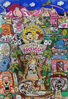 Welcome to Rock Vegas 3-D 1995 Limited Edition Print by Charles Fazzino