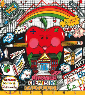 An Apple a Day Makes School OK 3-D 1997 Limited Edition Print by Charles Fazzino