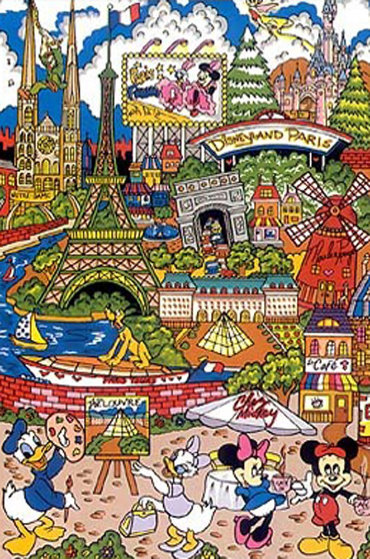 Euro-Disney 2003 3-D Limited Edition Print by Charles Fazzino
