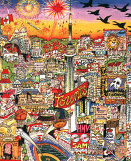 Meet Me in Toronto 3-D Limited Edition Print by Charles Fazzino