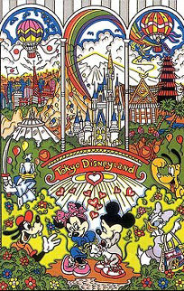 Tokyo Disneyland 3-D Limited Edition Print by Charles Fazzino