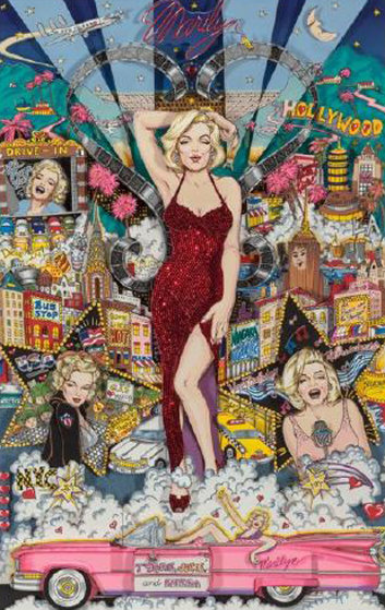 Forever Marilyn 3-D Limited Edition Print by Charles Fazzino