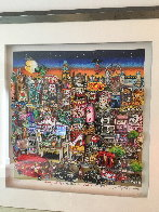 Getting Cheekie on the Queue in London's West End 2014 3-D Limited Edition Print by Charles Fazzino - 1