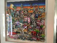 Getting Cheekie on the Queue in London's West End 2014 3-D Limited Edition Print by Charles Fazzino - 4