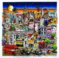 Getting Cheekie on the Queue in London's West End 2014 3-D Limited Edition Print by Charles Fazzino - 0