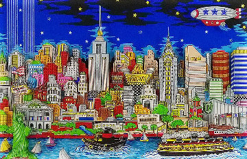 Lights of Hope And Remembrance 3-D 2003 New York  Limited Edition Print - Charles Fazzino