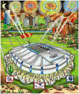 Patriots Suberbowl XLIX (Arizona) 2014 Limited Edition Print - Charles Fazzino