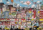Crossing Houston Street 3-D 1989 Limited Edition Print - Charles Fazzino