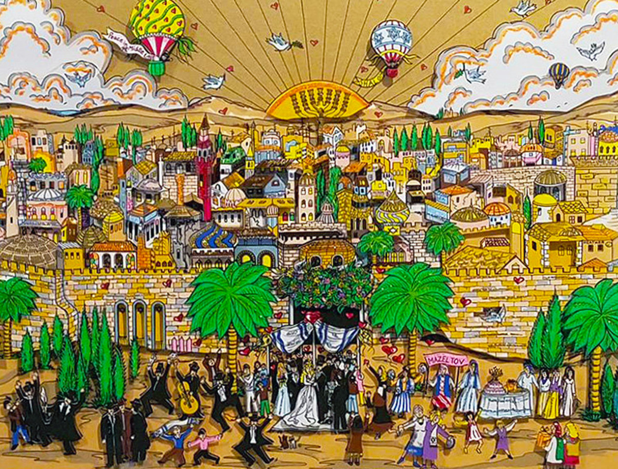 Wedding in Jerusalem 1994 3-D Limited Edition Print by Charles Fazzino