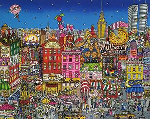 Mangia Mullberry Street 3-D Limited Edition Print - Charles Fazzino