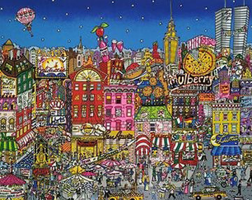 Mangia Mullberry Street 3-D Limited Edition Print by Charles Fazzino