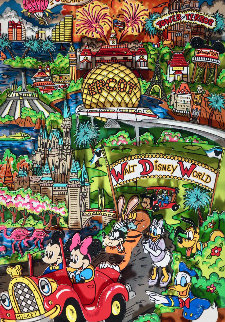 Disneyworld, Florida 3-D 1998 Limited Edition Print by Charles Fazzino