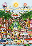 Perfectly Palm Beach 3-D Limited Edition Print - Charles Fazzino