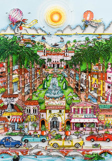 Perfectly Palm Beach 3-D Limited Edition Print by Charles Fazzino