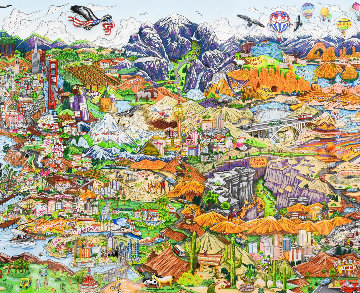 O Beautiful For Spacious Skies...America…America 3-D Limited Edition Print by Charles Fazzino