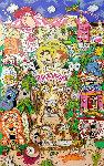 Flintstones Welcome to Rock Vegas 3-D 1996 Limited Edition Print - Charles Fazzino