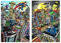 Superhero Suite Superman Saves the Day & Batman Rules the Night Set 2016 3-D Limited Edition Print by Charles Fazzino - 0