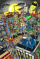 Superhero Suite Superman Saves the Day & Batman Rules the Night Set 2016 3-D Limited Edition Print by Charles Fazzino - 1