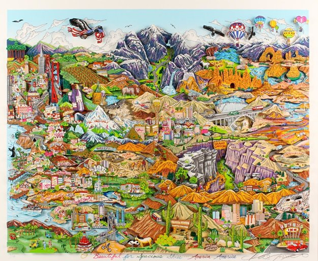 O Beautiful For Spacious Skies of America 2012 3-D Limited Edition Print by Charles Fazzino
