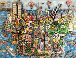 World Loves NYC 3-D 1998 Limited Edition Print - Charles Fazzino
