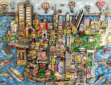 World Loves NYC 3-D 1998 Limited Edition Print by Charles Fazzino