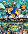 Money Talks 3-D Limited Edition Print - Charles Fazzino