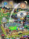 All Star Game At Citi Field 3-D 2013 Limited Edition Print - Charles Fazzino
