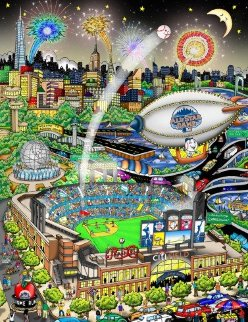 All Star Game At Citi Field 3-D 2013 Limited Edition Print by Charles Fazzino