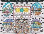 Money Makes the World Go Round 1994 Limited Edition Print - Charles Fazzino