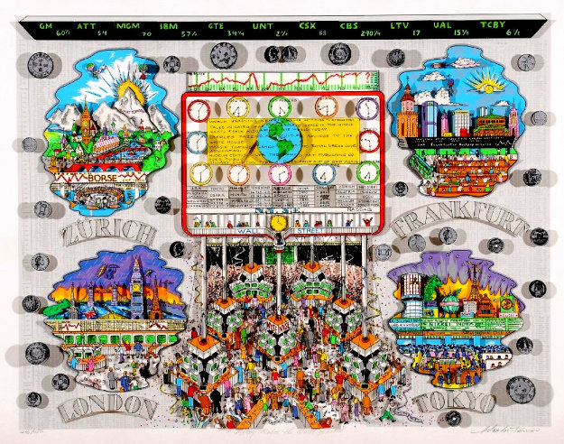 Money Makes the World Go Round 3-D 1994 by Charles Fazzino