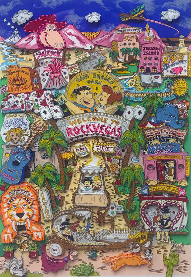Rock Vegas AP 1996 3-D Limited Edition Print by Charles Fazzino