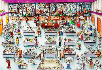 9 to 5  1994 3-D Limited Edition Print by Charles Fazzino