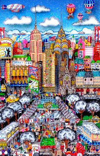 Yea...It's a N.Y. Snow Day 3-D Limited Edition Print by Charles Fazzino