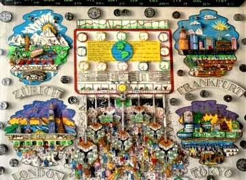 Money Makes the World Go Round 3-D Limited Edition Print by Charles Fazzino