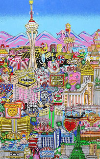 Vegas Vacation 3-D 2003 Limited Edition Print - Charles Fazzino