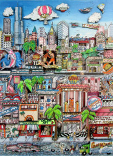 Miami Heat 3-D 1991 Limited Edition Print by Charles Fazzino