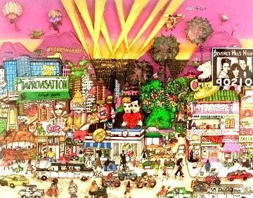 Melrose 90210 3-D 1986 Limited Edition Print by Charles Fazzino